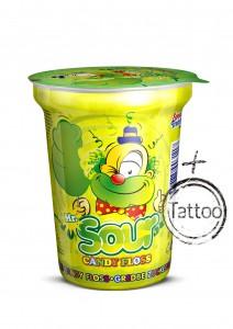 Mr. Sour Candy Floss taste sour lime